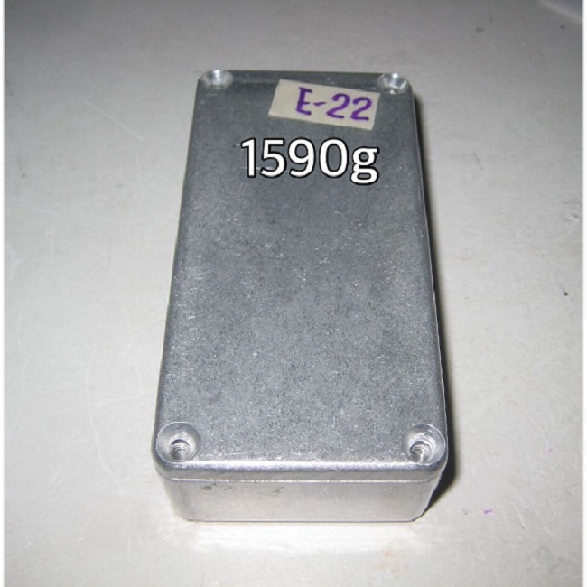 (E-22) 1590g  Enclosure <b><font style='font-weight:bold;color:purple'>the same size as the Hammond 1590G</font></b>