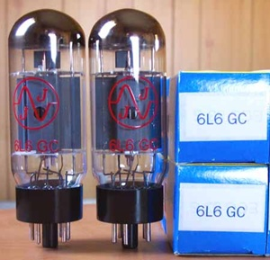 (V-7)  Vacuum Tubes 6L6GC Matched PAIR