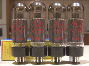 (V-6)  Vacuum Tubes EL34 Matched QUAD <b><font style='font-weight:bold;color:red'></font></b>