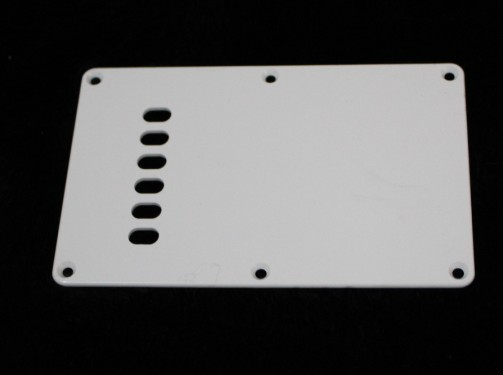 (B-71)  White Guitar Back Plate 1 Ply
